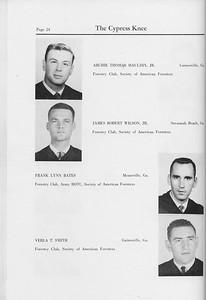 The Cypress Knee, 1959, Seniors, Archie Thomas Maudlin, James Robert Wilson, Frank Lynn Bates, Verla T. Smith, pg. 24