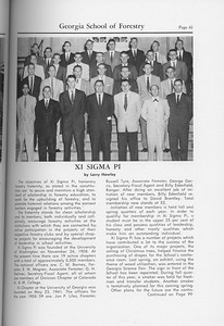 The Cypress Knee, 1959, Xi Sigma Pi, Larry Hawley, pg. 41