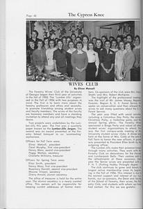 The Cypress Knee, 1959, Wives Club, Elinor Metcalf, pg. 42