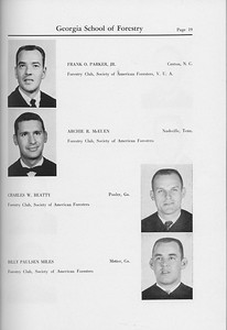 The Cypress Knee, 1959, Seniors, Frank O. Parker, Archie R. McEuen, Charles W. Beatty, Billy Paulsen Miles, pg. 19