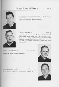 The Cypress Knee, 1959, Seniors, Joseph Randolph Garrard, Billy G. Edenfield, Robert E. Mosteller, Maurice Harrel Rogers, pg. 21
