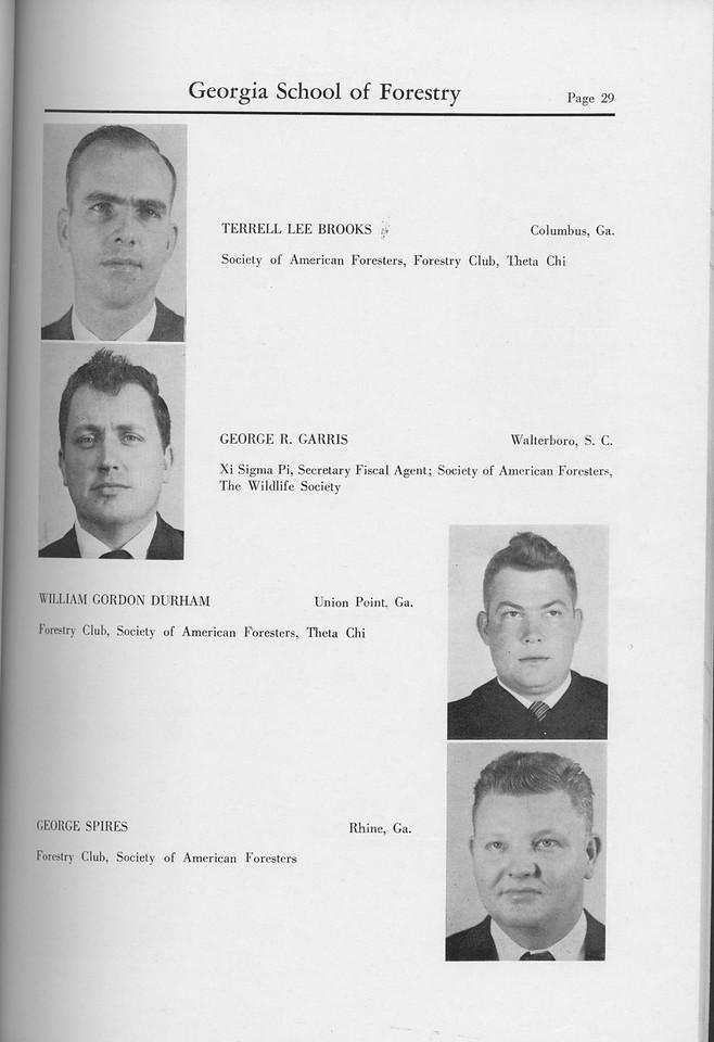The Cypress Knee, 1959, Seniors, Terrell Lee Brooks, George R. Garris, William Gordon Durham, George Spires, pg. 29