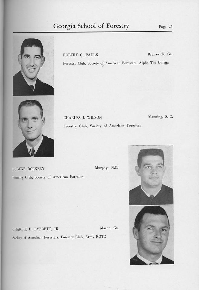 The Cypress Knee, 1959, Seniors, Robert C. Paulk, Charles J. Wilson, Eugene Dockery, Charlie H. Everett, pg. 25
