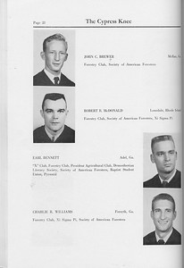 The Cypress Knee, 1959, Seniors, John C. Brewer, Robert B. McDonald, Earl Bennett, Charlie R. Williams, pg. 28