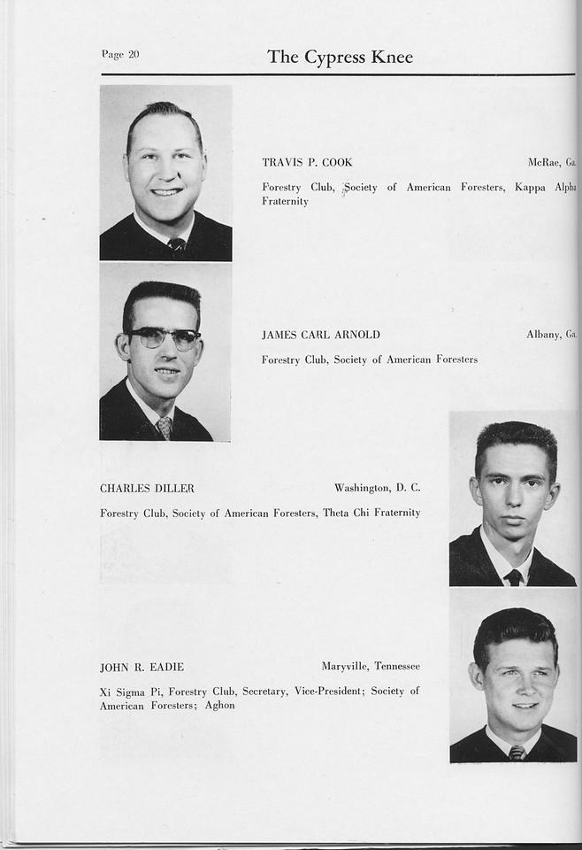 The Cypress Knee, 1959, Seniors, Travis P. Cook, James Carl ARnold, Charles Diller, John R. Eadie, pg. 20