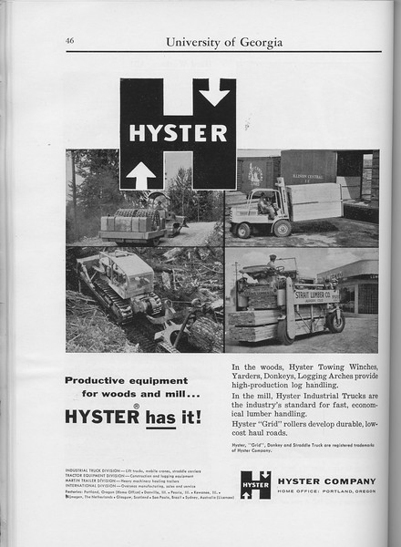 The Cypress Knee, 1960, Hyster Company, pg. 46