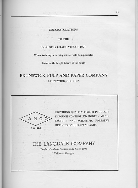The Cypress Knee, 1960, Brunswick Pulp and Paper Company, The Langdale Company, pg. 31