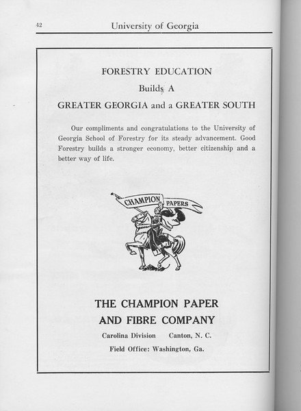 The Cypress Knee, 1960, The Champion Paper and Fibre Company, pg. 42
