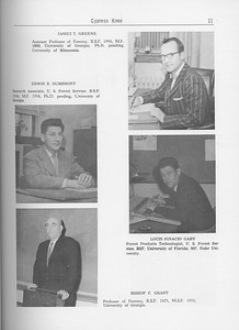 The Cypress Knee, 1962, Forestry Faculty and U. S. Forest Service Research Staff, James T. Greene, Erwin B. Dumbroff, Louis Ignacio Gaby, Bishop F. Grant, pg. 11