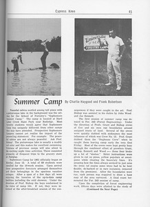The Cypress Knee, 1962, Summer Camp, Charlie Haygood and Frank Robertson, pg. 45