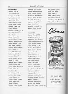 The Cypress Knee, 1962, Student Roster, Olin Seabolt and Co., pg. 32