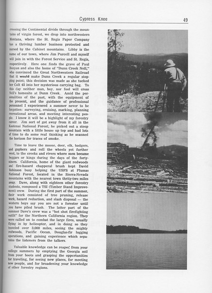 The Cypress Knee, 1962, Summer Camp (continued), pg. 49