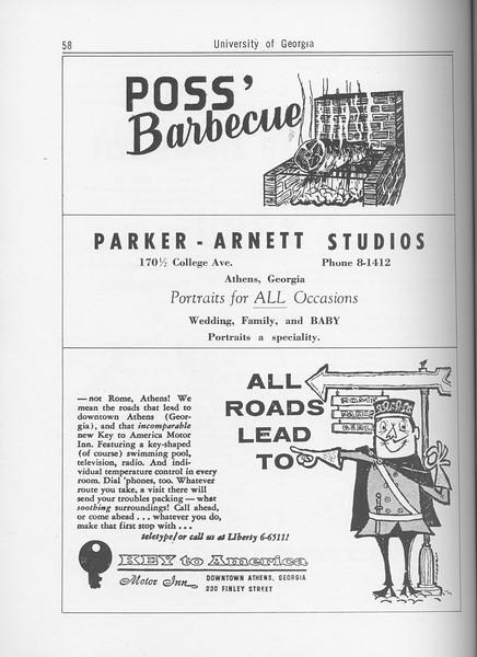The Cypress Knee, 1962, Poss' Barbecue, Parker-Arnett Studios, Motor Inn, pg. 58