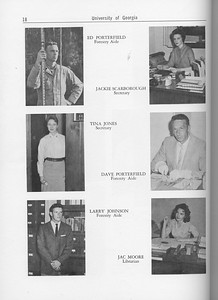 The Cypress Knee, 1962, Forestry Faculty and U. S. Forest Service Research Staff, Ed Porterfield, Jackie Scarborough, Tina Jones, Dave Porterfield, Larry Johnson, Jac Moore, pg. 18
