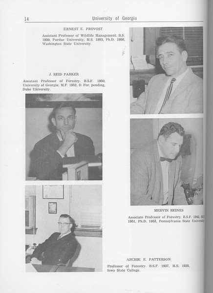 The Cypress Knee, 1962, Forestry Faculty and U. S. Forest Service Research Staff, J. Reid Parker, Archie E. Patterson, Ernest E. Provost, Mervin Reines, pg. 14