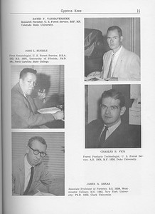 The Cypress Knee, 1962, Forestry Faculty and U. S. Forest Service Research Staff, John L. Ruehle, James A. Shear, David F. Vanharverbeke, Charles B. Vick, pg. 15