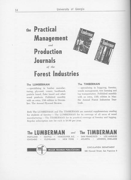 The Cypress Knee, 1962, The Lumberman, The Timberman, pg. 54