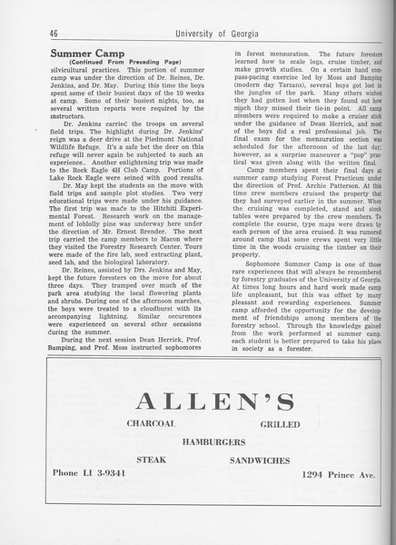 The Cypress Knee, 1962, Summer Camp (continued), Allen's, pg. 46