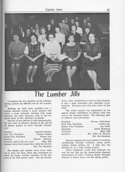"The Cypress Knee, 1962, ""The Lumber Jills"", pg. 43"