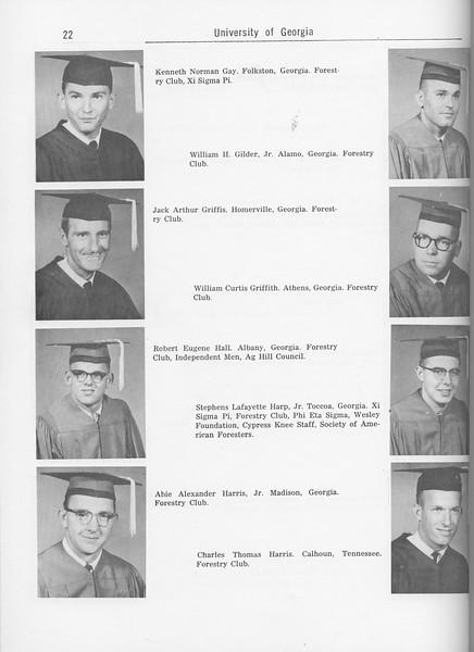 The Cypress Knee, 1962, Seniors, Kenneth Norman Gay, William H. Gilder, Jack Arthur Griffis, William Curtis Griffith, Robert Eugene Hall, Stephens Lafayette Harp, Abie Alexander Harris, Charles Thomas Harris, pg. 22