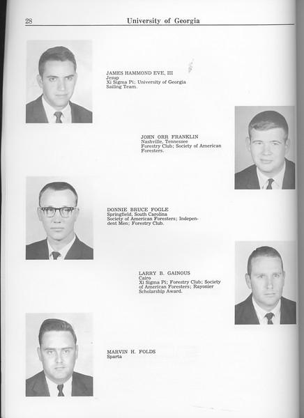 The Cypress Knee, 1963, Seniors, James Hammond Eve, John Orr Franklin, Donnie Bruce Fogle, Larry B. Gainous, Marvin H. Folds, pg. 28