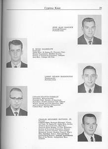 The Cypress Knee, 1963, Seniors, Jere Alan Hancock, E. Hugh Galbreath, Larry Nelson Harrington, Gerard Francis Gosselin, Charlie Benjamin Haygood, pg. 29
