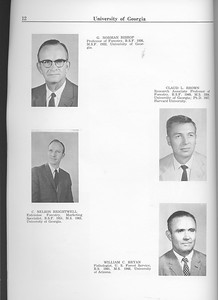 The Cypress Knee, 1963, Faculty and Research Staff, G. Norman Bishop, Claud L. Brown, C. Nelson Brightwell, William C. Bryan, pg. 12