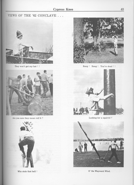 """The Cypress Knee, 1963, """"Views of the '62 Conclave"""", pg. 43"""
