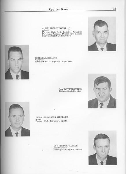 The Cypress Knee, 1963, Seniors, Allen Mize Stewart, Terrell Lee Smith, Sam Watson Stokes, Billy Henderson Steedley, Don Richard Taylor, pg. 35