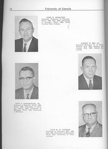 The Cypress Knee, 1963, Faculty and Research Staff, John R. Hamilton, Leon A. Hargreaves, Albert F. Ike, Lyle W. R. Jackson, pg. 14