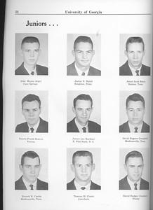 The Cypress Knee, 1963, Juniors, John Wayne Angel, Justus N. Baird, Amos Leon Bates, Emory Frank Bowers, James Lee Buckner, Deryl Eugene Campbell, Everett H. Cardin, Thomas M. Clonts, David Hodges Crawford, pg. 38