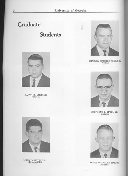 The Cypress Knee, 1963, Graduate Students, Aaron H. Chesser, Louis Carlton Gill, Charles Gaither Gregory, Stephens L. Harp Jr., James Brantley Harris, pg. 24