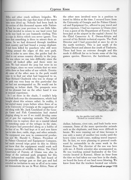 """The Cypress Knee, 1963, """"Some Conservation Problems..."""" (continued), pg. 49"""