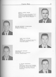 The Cypress Knee, 1963, Henry Albert Reese, William Herbert Nussbaumer, Gary Alan Ritchie, William Don Rackley, C. Frank Robertson, pg. 33