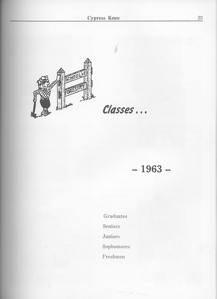 The Cypress Knee, 1963, Introduction to Classes, pg. 23