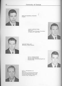 The Cypress Knee, 1963, Seniors, Phillip Maxwell Teague, Gary Lawton Tyre, Bryant Teal Jr., Roy H. Tumbleston, Buy J. Thurmond, pg. 36