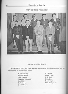 The Cypress Knee, 1963, Freshman Class, Subscriber's Page, pg. 42