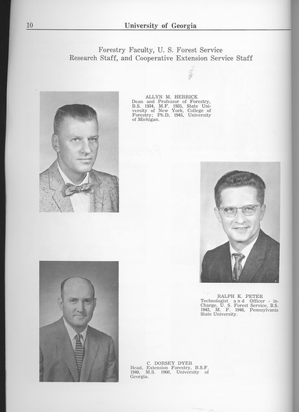 The Cypress Knee, 1963, Faculty and Research Staff, Allyn M. Herrick, Ralph K. Peter, C. Dorsey Dyer, pg. 10