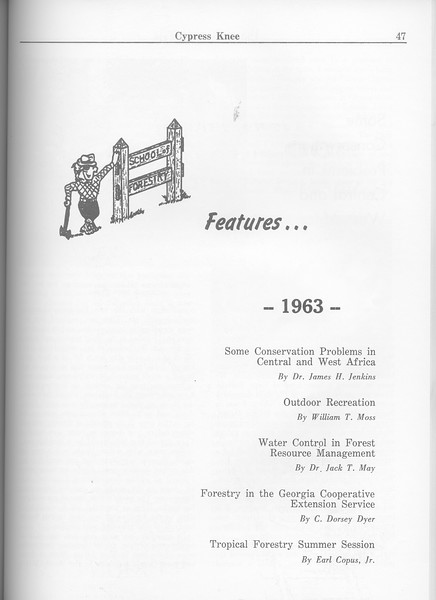 The Cypress Knee, 1963, Introduction to Features, pg. 47
