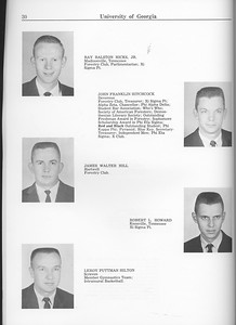 The Cypress Knee, 1963, Seniors, Ray Ralston Hicks, John Franklin Hitchcock, James Walter Hill, Robert L. Howard, Leroy Puttman Hilton, pg. 30