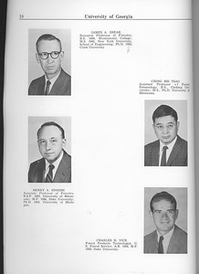 The Cypress Knee, 1963, Faculty and Research Staff, James A. Shear, Henry A. Stoehr, Ching Hsi Tsao, Charles B. Vick, pg. 18