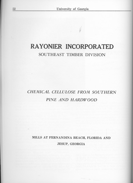 The Cypress Knee, 1963, Rayonier Incorporated Southeast Timber Division, pg. 52