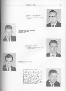 The Cypress Knee, 1963, Seniors, Herbert Allen Knight, Stanford Blaine Johnson, John Elwin Knight, Samuel P. Killian, Robert Walter Long, pg. 31