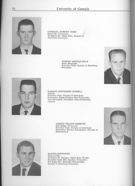 The Cypress Knee, 1963, Seniors, Charles Robert Rusk, Robert Arnold Sills, Barron Jefferson Russell, Joseph Nelson Simmons, Martin Shepherd, pg. 34