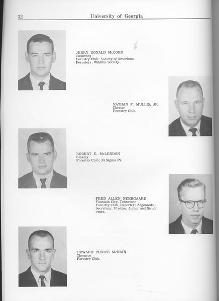 The Cypress Knee, 1963, Seniors, Jerry DOnald McCord, Nathan F. Mullis, Robert E. McLendon, Fred Allen Neergaard, Howard Pierce McNair, pg. 32