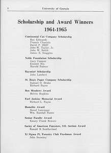 The Cypress Knee, 1965, Scholarships and Awards, pg. 8