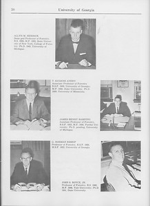 The Cypress Knee, 1965, Faculty and Research Staff, Allyn M. Herrick, T. Eugene Avery, James Henry Bamping, G. Norman Bishop, John S. Boyce, pg. 10