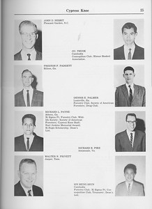 The Cypress Knee, 1965, Seniors, John D. Nesbit, Ou Thuok, Preston F. Padgett, Dennis E. Palmer, Richard L. Payne, Richard B. Pike, Walter N. Privett. Sin Meng Srun, pg. 25