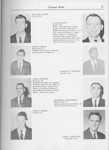 The Cypress Knee, 1965, Seniors, William R. Dees, B. Allen Dunn, Jess B. Fasold, Timothy R. Fendley, John A. Fowler, Richard R. Greatorex, John D. Greer, John L. Griffitts, pg. 21