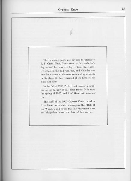 The Cypress Knee, 1965, Professor B. F. Grant, pg. 53